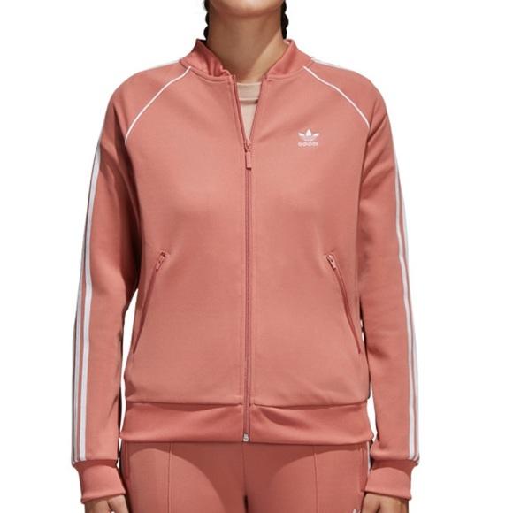 3908eb0b936 adidas Jackets   Blazers - Peach Adidas tracksuit jacket